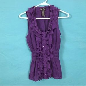 Susie Rose Purple Top, size M (7/9)